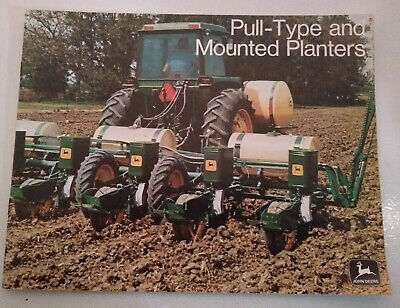 1970's John Deere Sales Brochure Pull Type and Mounted Planters 1200 Series 493A