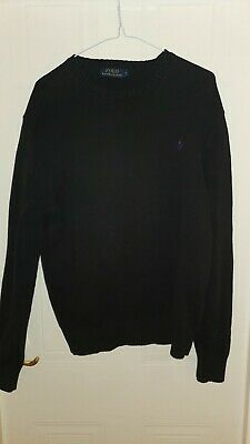 Mens POLO by RALPH LAUREN Slim Fit Pima Cotton Knitted Jumper Medium