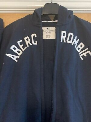 Boys Abercrombie & Fitch tracksuit, Navy with A&F logo age 15/16