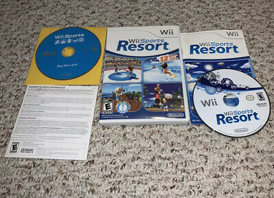 Wii Sports & Sports Resort Nintendo Wii Lot Bundle Tested FAST SHIPPING