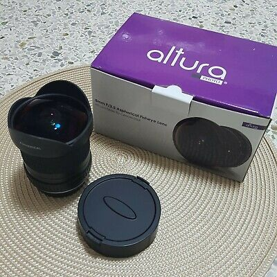 Altura Photo Aspherical Fisheye Lens 8MM F/3.5 FOR CANON DSRL Cameras