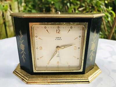 Vintage ORIS 8 Day Swiss Made Mantle Clock Spares or Repairs