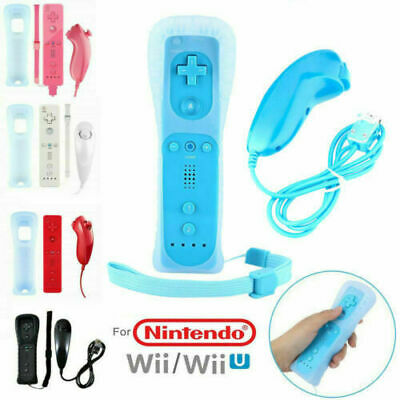 Remote and Nunchuck Controller with Motion Plus inside For NINTENDO WII &WII U.