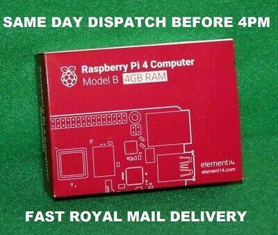 Brand New Sealed Raspberry Pi 4 Model B 4Gb (2019) - Fast Delivery Royal Mail