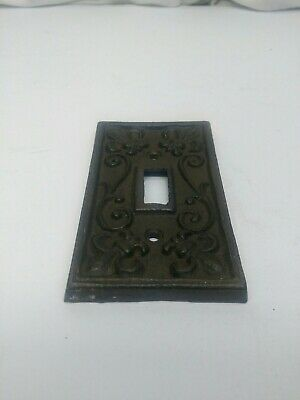 Vintage Cast Iron Fluer De Lis Light Switch Cover Wall Plate Rustic Home Decor
