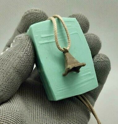 RARE Authentic Ancient bronze Amulet Pendant Moon Lunula Viking 9-11 cen.AD #129