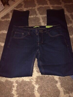 Versace mens navy denim slim fit jeans size 32W x 33L