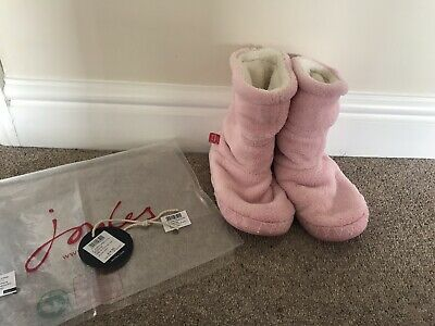 Joules Girls Padabout Pink Slippers, Size Small 8-10 - Good Condition
