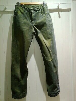 Vintage LEVI'S Engineered Twisted 2Tone yellow blue Corduroy Jeans W28 L34 Cords