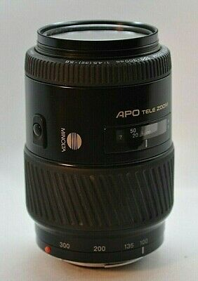Objectif Minolta Af 100-300For Sony Numerique 4.5/5.6 Apo Tele Zoom Made Japan