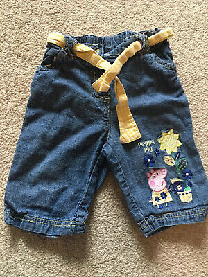 Girls Peppa Pig Trousers 1 1/2- 2 Years Jeans