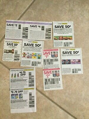 Lot of 10 Grocery Food Coupons Expires March 2020