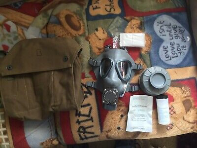 Finnish Army Gas Mask, Bag, Sealed Filter, Never Issued