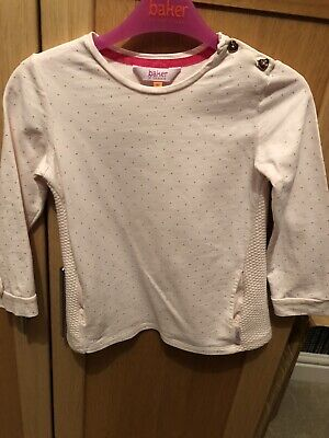 Girls Pink Ted Baker Top Age 3-4