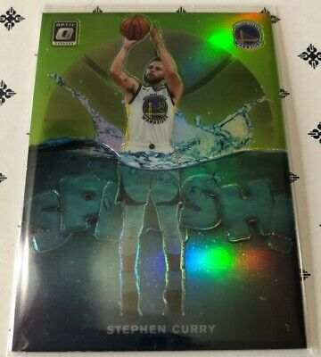 2019-20 Panini Optic STEPHEN CURRY Splash Green Prizm 041/149
