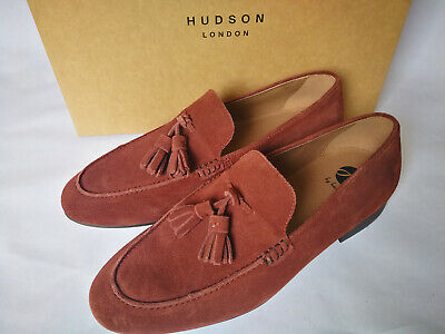 Hudson Mens Suede Loafers, Brown, Size 8 Uk/ 42 Eu, Bnib, Slip On,Driving,Casual