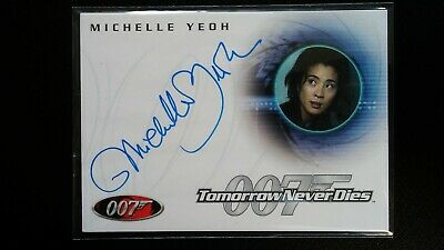 James Bond 007 40th Anniversary Autograph A30 Michelle Yeoh Rittenhouse RARE