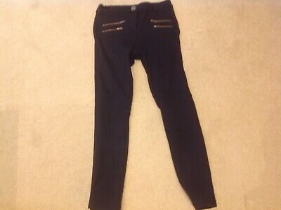 Girls black NEXT trousers , age 9 yrs, vgc
