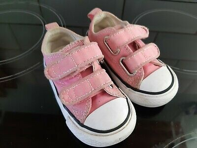 Girls Pink Converse Shoes Size Infant UK 5