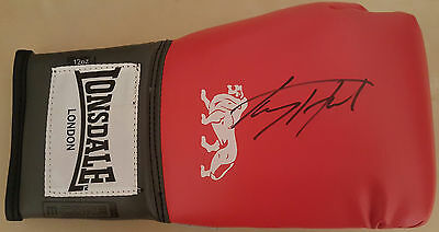 LARRY HOLMES Signed LONSDALE Boxing Glove WORLD HEAVYWEIGHT Champion  COA