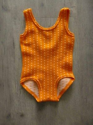 Girls Orange Vintage 70s Swimsuit Age 1 Year (Labelled 2 - 4 Years)