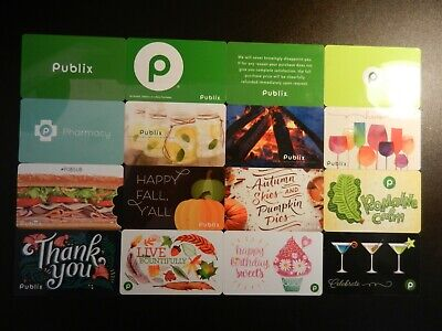 Hugh Lot Of Thirty (30) All Different Collectible Only *Publix* Gift Cards