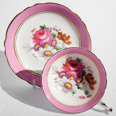 PARAGON Fine Bone China DUO Cup Saucer Roses Pink