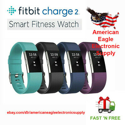 Fitbit Charge 2 HR Heart Rate Monitor Fitness Activity Tracker Large Small