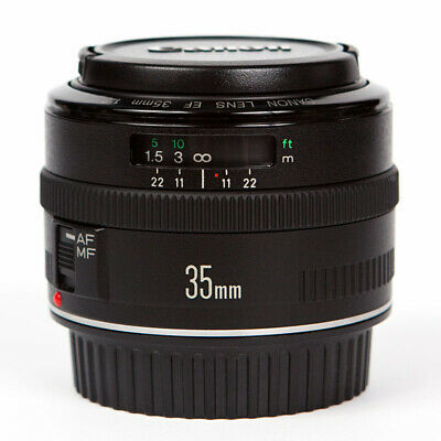 Canon EF 35mm f2 Lens with front and rear caps - non USM