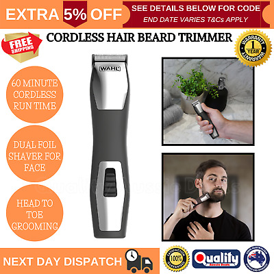 Wahl Pro Cordless Beard Trimmer Shaver Electric Rechargeable Mens Hair Clipper