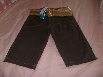 Girls Denim Shorts with Gold Belt (age 13 yrs) New with tags