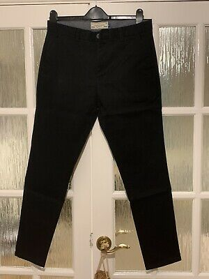 Mens Next Black Stretch Chinos SKINNY Fit 34 USED ONLY