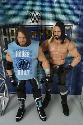 Wwe Mattel Basic Series Elite 66 37 Seth Rollins And Aj Styles Battle Set Of Two
