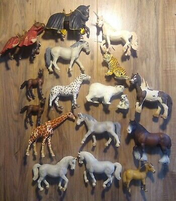 Schleich Horse and Animal vintage Lot of 17 bears tiger unicorn