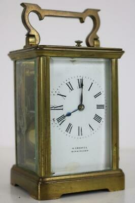 ANTIQUE FRENCH CARRIAGE CLOCK striking and repeating SLEEPY & DIRTY restore