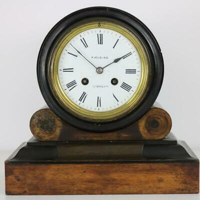 ANTIQUE DRUMHEAD CLOCK by JAPY FRERES walnut & ebonised case SOME RESTORATION