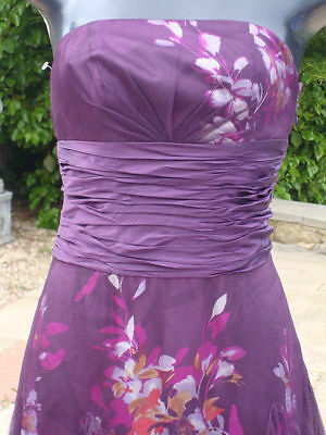 Monsoon Martini Strapless Silk Dress 08 Wedding Races Prom Party  Bnwt