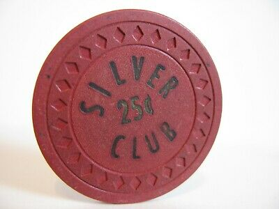 25 cent Casino Chip   Silver Club    Las Vegas, NV.     Rated S