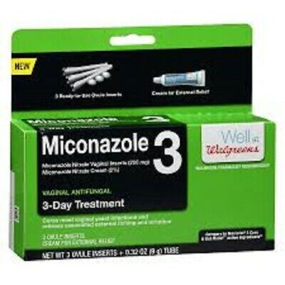 Walgreens Miconazole 3 Ovules 3 Day Treatment Exp 03/2020 FAST Shipping NIB
