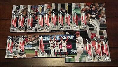 Washington Nationals 2020 Topps Complete 16 Card Team Set Series 1 World Series