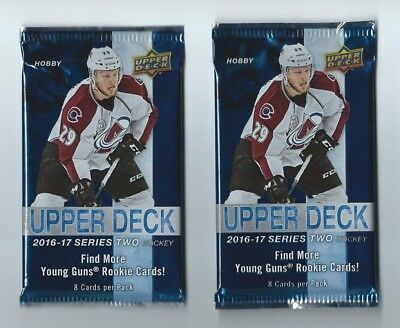 2016-17 UD Series 2 Upper Deck Hockey 2 Pack Hobby 8 Cards per Pack