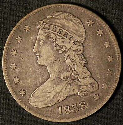 1838 United States Capped Bust 50c Half Dollar - Free Shipping USA