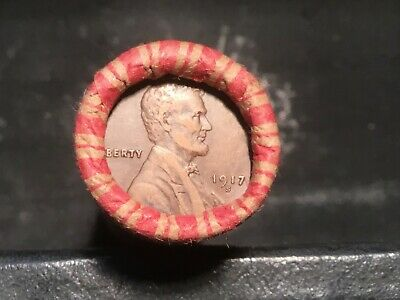 Very Nice HIGHER GRADE Wheat Cent Roll up for bid, 1917-S, 1928-D on ends #52
