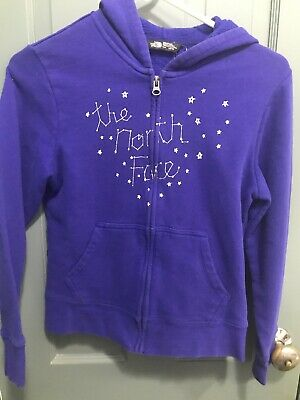 The North Face Girls Zip Up Sweatshirt Hoodie Medium 10