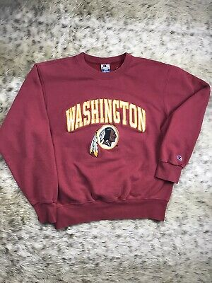 Vintage 90s Champion NFL Washington Redskins Spellout Crewneck Sweatshirt Mens L
