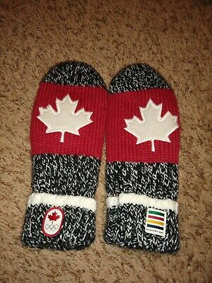 Hudsons Bay Team Canada Olympic Winter Games Fleece Lined Mittens Adult XS
