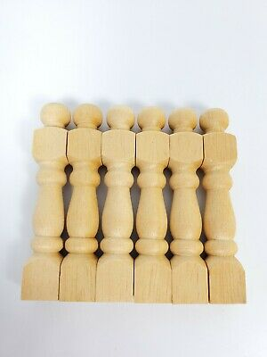style 5 6 X Dolls House Miniature Rounded Long Wood Spindles