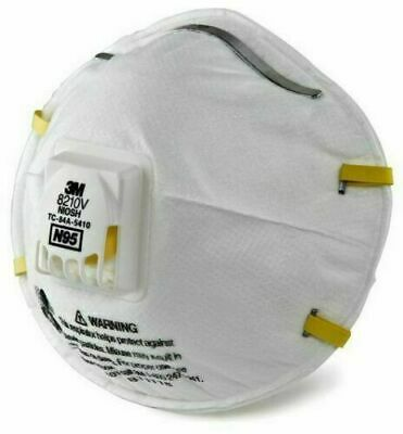 3M 8210V N95 Particulate Respirator w/ Cool Flow NIOSH (Single Mask) Sealed 1PC