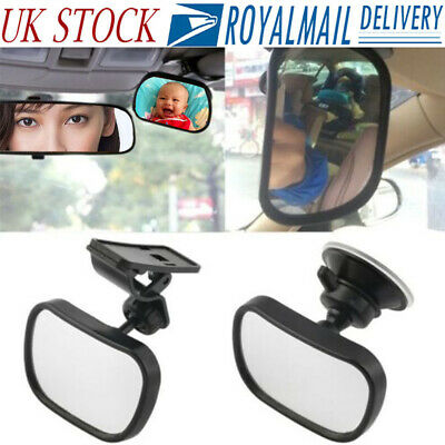 Car Baby Back Seat Rear View Clip Suction Mirror For Infant Child Toddler Safety