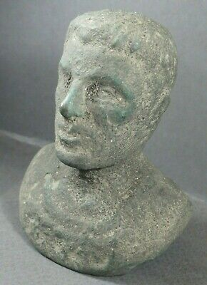 ANCIENT ROMAN BRONZE STATUE BUST OF BRUTUS one of Julius Caesar killers